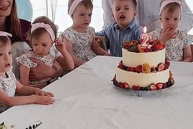 Sześcioraczki z Tylmanowej mają już 2 lata! ZDJĘCIA z urodzin