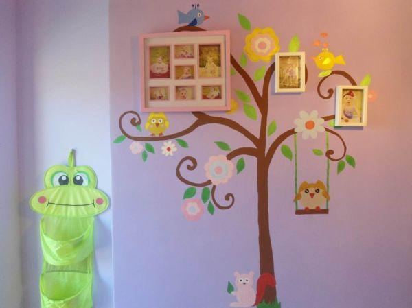 ciąg dalszy zdjęć nowego pokoju do umeblowania. Jak na razie jest tylko ręcznie malowana ściana, dzieło mojej zdolnej koleżanki.