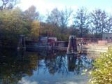 Jesień nad Kanałem Mazurskim - śluza